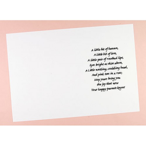 C5 Birth, Christening, Marriage, Get Well, Sympathy Verses Card Inserts - Pack of 10 (portrait)